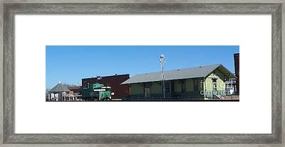 Appleton City Mo Train Town Usa Framed Print