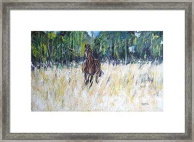 Framed Print featuring the painting Approach by Debora Cardaci
