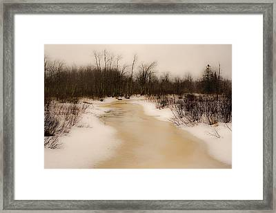 Approach Of Spring Framed Print by Laurie Breton
