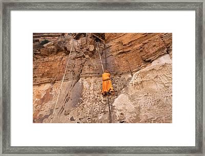Approach To Debre Damo Monastery Framed Print