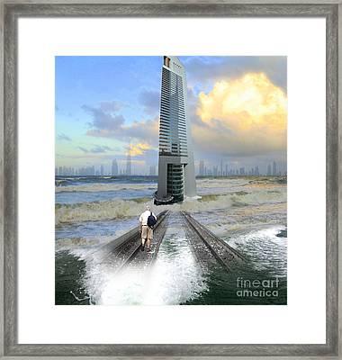 Approach To Dubai Framed Print by Ayesha DeLorenzo