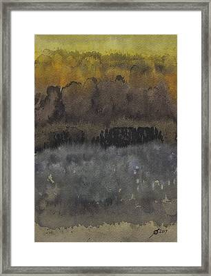 Approach To The Ruins Original Painting Framed Print by Sol Luckman