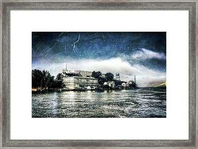 Approaching Alcatraz Island By Boat Framed Print by Jennifer Rondinelli Reilly - Fine Art Photography