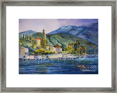 Approaching Bellagio Framed Print by Betsy Aguirre
