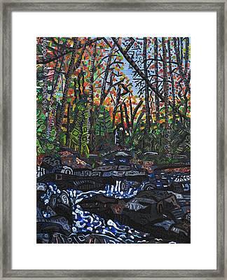 Approaching Big Bradley Falls Framed Print by Micah Mullen