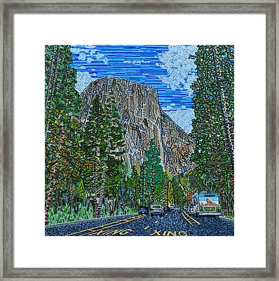 Approaching El Capitan Yosemite National Park Framed Print