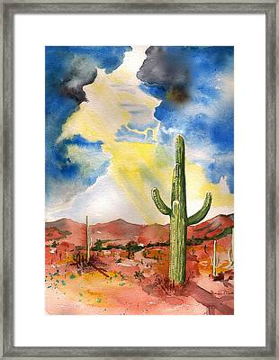 Approaching Monsoon Framed Print