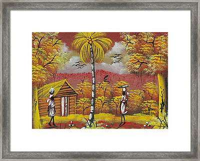 Approaching On The Path Framed Print by Herold Alvares