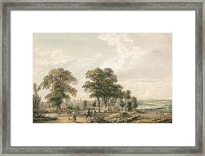 Approaching Rochester And The Medway Framed Print by Paul Sandby