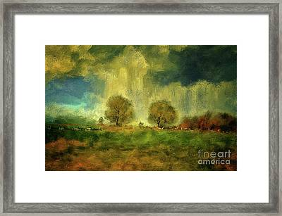 Framed Print featuring the digital art Approaching Storm At Antietam by Lois Bryan