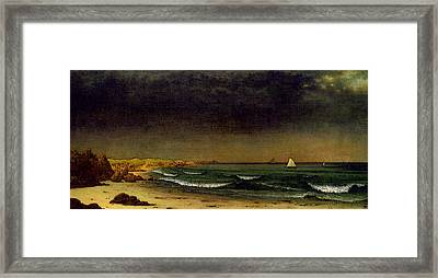 Approaching Storm Beach Near Newport Atc Framed Print