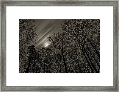Approaching Storm, Black And White Framed Print
