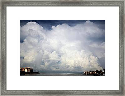 Framed Print featuring the photograph Approaching Storm by Carol Kinkead