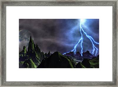 Approaching Storm Framed Print by David Jackson