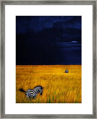 Approaching Storm Framed Print by Edith Peterson-Watson