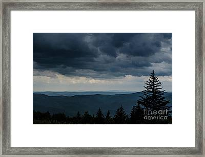 Approaching Storm Highland Scenic Highway Framed Print by Thomas R Fletcher