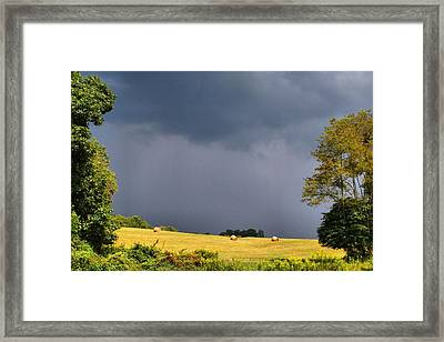 Approaching Storm Framed Print by Kathryn Meyer