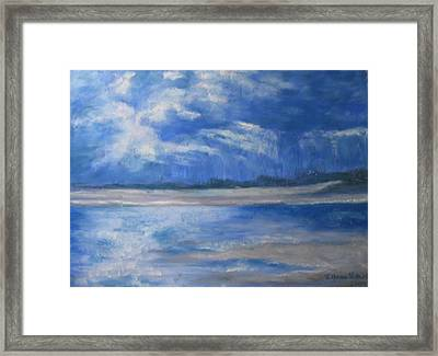 Approaching Storm Framed Print by Lynne Vokatis