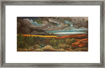 Approaching Storm Framed Print by Shannon Rains