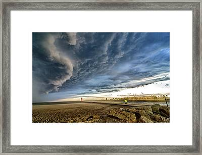 Framed Print featuring the photograph Approaching Storm by Steven Santamour