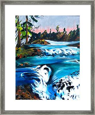 Approaching The Falls Framed Print by Patricia Bigelow