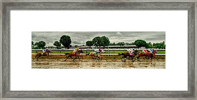 Approaching The Far Turn Framed Print