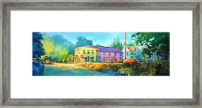 Approaching The Four Way Stop Framed Print by Virgil Carter
