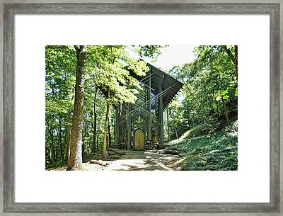 Framed Print featuring the photograph Approaching Thorncrown Chapel by Cricket Hackmann