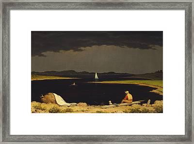 Approaching Thunderstorm Framed Print by Martin Johnson Heade