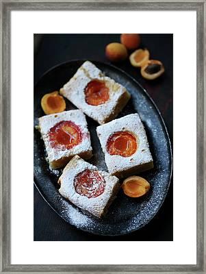 apricot cakes by Iuliia Malivanchuk Framed Print by Iuliia Malivanchuk
