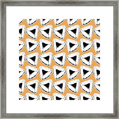 Framed Print featuring the mixed media Apricot Hamentashen- Art By Linda Woods by Linda Woods