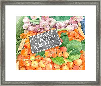 Apricots In An Open Air Market In Nice, France, 10 X 14 Framed Print
