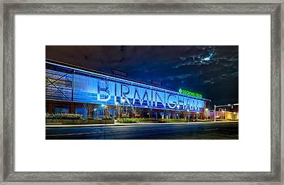 April 2015 -  Birmingham Alabama Baseball Regions Field At Night Framed Print by Alex Grichenko