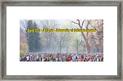 April 20th - University Of Colorado Boulder Framed Print by James BO  Insogna