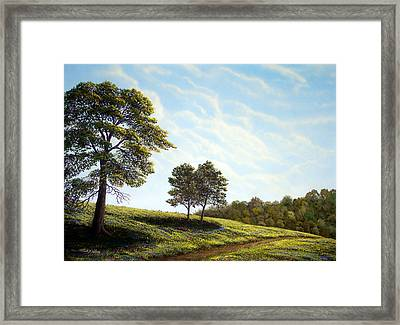 April Afternoon Framed Print by Frank Wilson