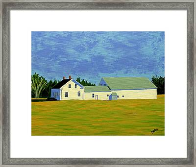 April Afternoon Route 17 Framed Print by Laurie Breton