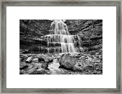 April At The Falls Framed Print