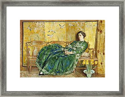 April  Framed Print by Childe Hassam