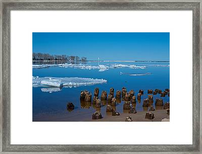 April Ice Framed Print by Gary McCormick