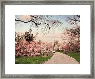 April In Bloom Framed Print