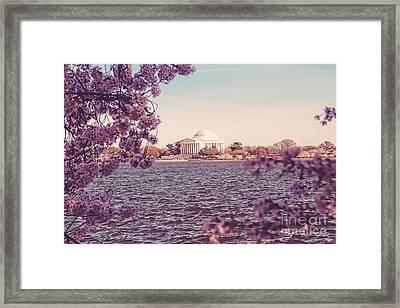 April In Dc Framed Print