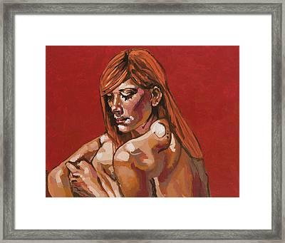 April In Red Framed Print