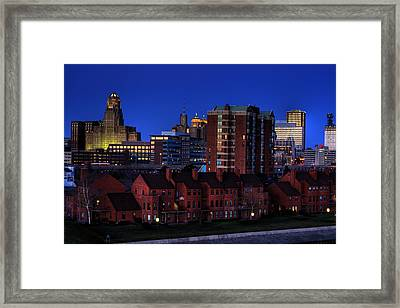 April Nighttime Framed Print