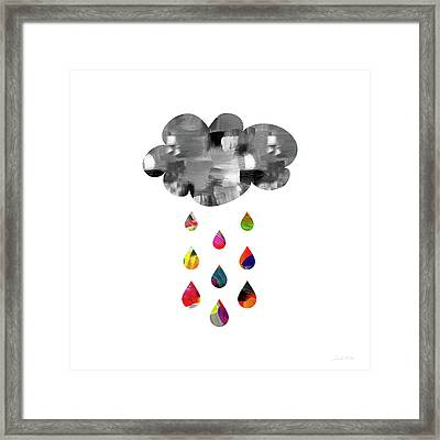 April Showers- Art By Linda Woods Framed Print by Linda Woods