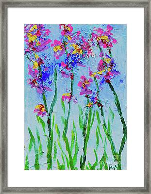 April Showers Bring May Flowers Framed Print by Alys Caviness-Gober
