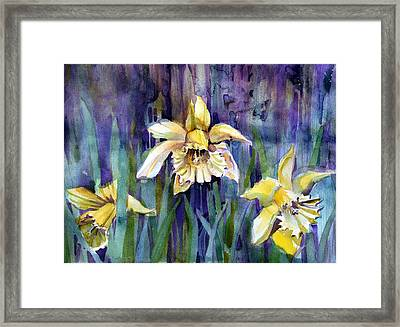 April Showers Framed Print by Mindy Newman