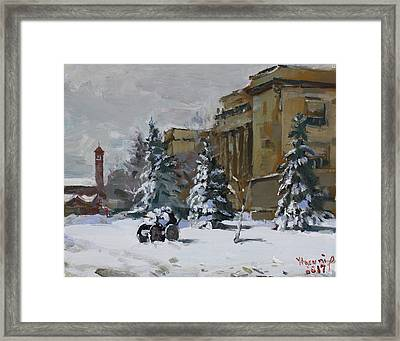 April Snow By The Nacc Framed Print by Ylli Haruni