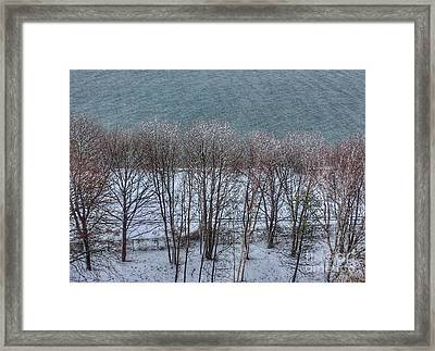 April Snow On Portland Trails Framed Print