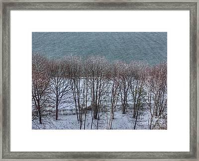 April Snow On Portland Trails Framed Print