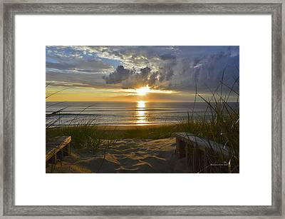 April Sunrise In Nags Head Framed Print